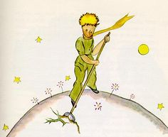 Little Prince IllustrationNow there were some terrible seeds on the planet that was the home of the little prince; and these were the seeds of the baobab. Chapter 5