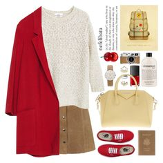 """zara long blazer"" by jesuisunlapin ❤ liked on Polyvore featuring Topshop, MANGO, Zara, Vans, Royce Leather, NARS Cosmetics, Givenchy, Hermès, philosophy and Junghans"