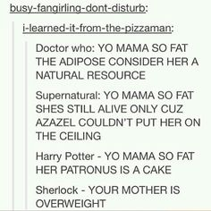 SuperWhoPotterLock insults. This is one of the best posts ever right after the guy who has M&M battles.