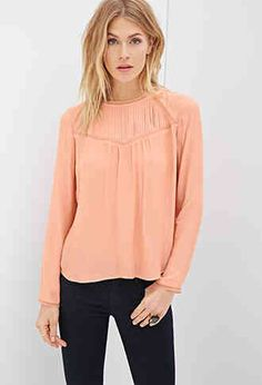 Pin Tuck Paneled Blouse from Forever 21 R229,00