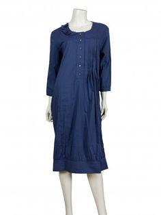 Damen Kleid mit Seide, petrol
