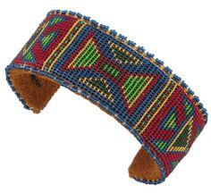 Colorful Beaded Cheyenne Hourglass Cuff by Teri Greeves (Kiowa)