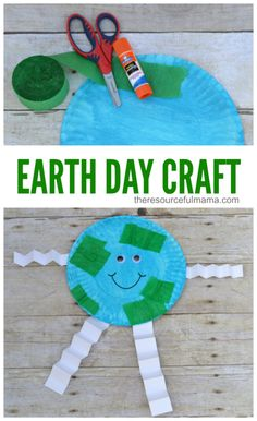 This Earth day craft is a very fun and simple way to teach kids about our planet using paper plates. #earthdaycrafts