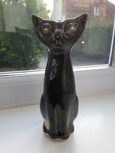 Vintage Wellow studio pottery stylized cat. | eBay