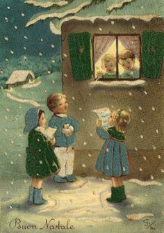 I remember going door to door with my friends and singing christmas carols when I was little.