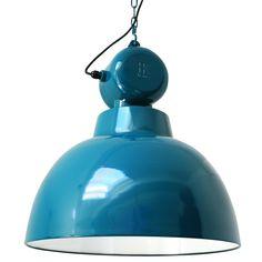 Het Woonrecept | Webshop - Hanglampen - Industriële lamp Factory, blauw (L)