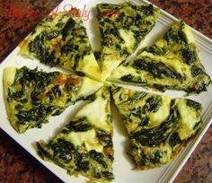 Authentic Italian Recipe for Spinach Frittata (Frittata con Spinaci) Spinach Frittata, Frittata Recipes, Quiches, La Trattoria, Italian Breakfast, Brunch, Cooking Recipes, Healthy Recipes, Le Diner