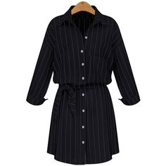 2017 new MM Womens fat stripe shirt Lapel single breasted lace dress