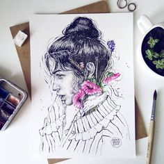 ⓢⓐⓢⓗⓐ ⓓⓔⓘⓝⓐ (@deinasasha) в Instagram: #portrait #girls #paint #art #illustration #inspiration #watercolor #draw #drawing #painting #sketching #poster #wallpaper #watercolour #aquarell #sketch #paint #drawing #sketching #sketchbook #sketchaday #sketchwalker #sketchcollector #aquarelle #watercolorsketch #painting #illustration #портрет #акварель #живопись #картина #иллюстрация #художник #watercolorpainting #watercolorart #artist #artwork