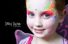 Face Paint fairy   fairy face paint daizy design face painting www daizydesign com