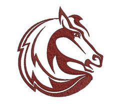 Horse embroidery design. Animals embroidery