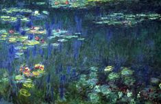 """One of the famous """"Waterlilies"""" paintings by Claude Monet."""
