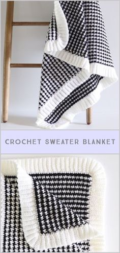 Today, I'd like to introduce you to Crochet Sweater Blanket Tutorial, One of the most beautiful crochet project I have ever seen. Crochet Shrug Pattern, Afghan Crochet Patterns, Crochet Patterns For Beginners, Crochet Stitches, Knitting Patterns, Crocheting Patterns, Crochet Afghans, Knitting Ideas, Sweater Blanket