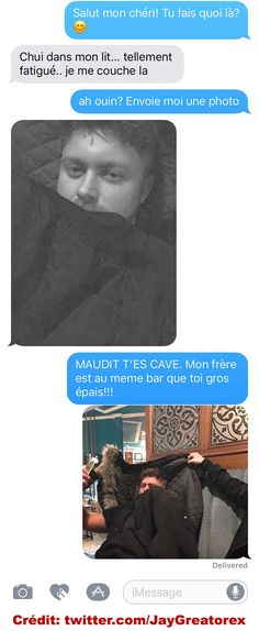 Il ment à sa blonde et se fait pogner solide - bankai killua - Pint Funny Sms, Funny Messages, Funny Cute, Funny Jokes, 9gag Funny, Memes Humor, Funny Images, Funny Pictures, Sms Jokes