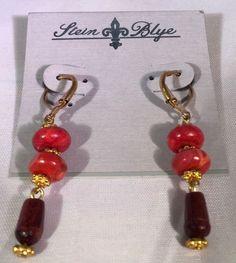 Stein Amp Blye Coral Wood Gold Drop Earrings | eBay