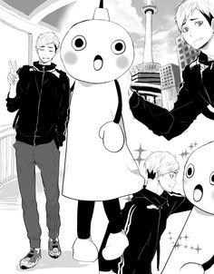 埋め込み画像 Haikyuu Funny, Haikyuu Yaoi, Anime Guys, Manga Anime, Miya Atsumu, Kagehina, Karasuno, Bungo Stray Dogs, Ship Art