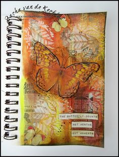 Handmade Happiness (by Sacha) | Art Journalling | My first Art Journal Page