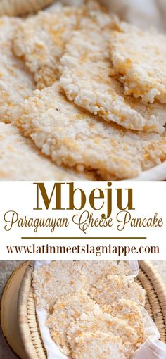 French Delicacies Essentials - Some Uncomplicated Strategies For Newbies This Traditional Paraguayan Mbeju Recipe Is A Cheesy And Delicious Taste Of Paraguay. Recipes Appetizers And Snacks, Snack Recipes, Cooking Recipes, Paraguayan Recipe, South American Dishes, Paraguay Food, Chile, Cheese Pancakes, Comida Latina