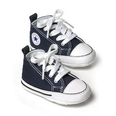 """Converse Infant Unisex """"First Star"""" High Top Sneakers - Baby ($22) ❤ liked on Polyvore featuring baby, baby boy, kids, baby clothes and baby stuff"""