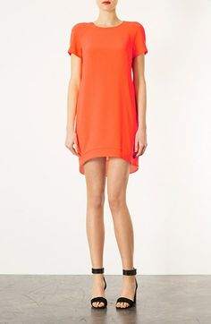 Topshop Crepe Shift Dress available at #Nordstrom