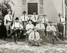 Group of Texas Rangers somewhere in south Texas, 1915.