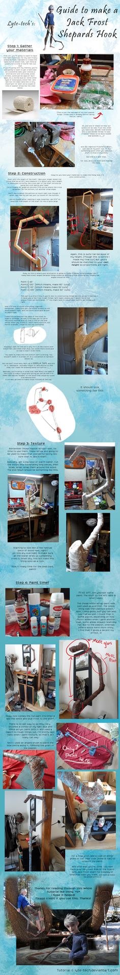 Jack Frost Staff Tutorial     I might end up needing this if I can't find a good stick... joel's gonna be him for holloween costume.