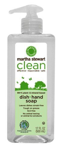 http://procarpetsupply.com/martha-stewart-clean-dishhand-soap-17-oz-pack-of-6/ Of all major 'green' cleaning brands, only Martha Stewart clean is completely green. Martha Stewart clean is 99+% plant and mineral based -- green integrity.