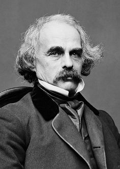 """Photo: Nathaniel Hawthorne, c. 1860-1864. Credit: Mathew Brady; Library of Congress, Prints and Photographs Division. Read more on the GenealogyBank blog: """"Nathaniel Hawthorne's 'The Scarlet Letter' an Instant Best-seller"""" https://blog.genealogybank.com/nathaniel-hawthornes-the-scarlet-letter-an-instant-best-seller.html"""