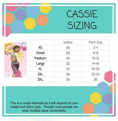 Cassie shirt sizing with measurement