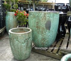 Extra Large Garden Pots Extra large tall old stone feature jane jar pot woodside garden extra large tall opal green glazed pot planters offer woodside garden centre pots to workwithnaturefo
