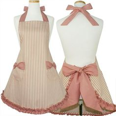 This Apron is so cute and girlie Flirty Aprons, Cute Aprons, Retro Apron, Aprons Vintage, Childrens Aprons, Apron Designs, Latifa, Sewing Aprons, Apron Dress