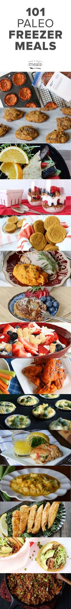 """Has switching to a Paleo diet left you wondering, """"Exactly what can I eat?"""" We have 101 answers – Paleo Freezer Meals will simplify your meal planning so that you can live a Paleo lifestyle even if you are busy."""