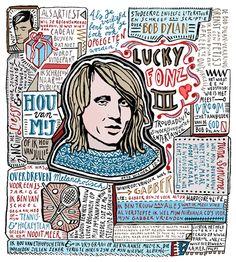 GETEKEND INTERVIEW - www.floorrieder.nl Prachtige tekeningen van interviews. Floor Rieder rocks.