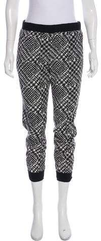 Black and whit Tibi joggers with abstract print throughout, dual zip pockets at hip and welt pocket at back. Skinny Joggers, Athletic Pants, Abstract Print, Welt Pocket, Lounge Wear, Collars, Harem Pants, Sweatpants, Slim