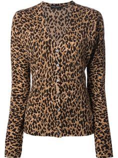 DOLCE and GABBANA: animal print round neck jacket