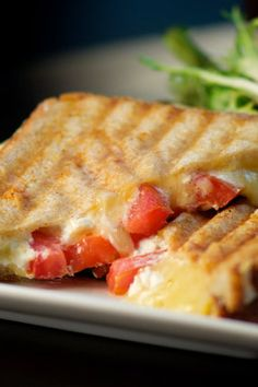 A new take on grilled cheese with goat cheese and tomato