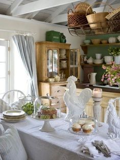 Home Interior Salas .Home Interior Salas French Country Kitchens, French Country Farmhouse, French Cottage, French Country Style, Kitchen Country, Country Charm, French Interior, French Decor, French Country Decorating