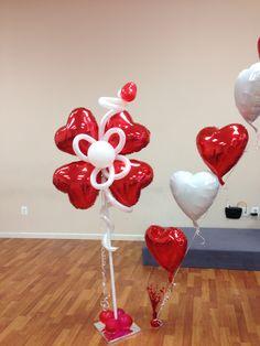 Balloon hearts flowers