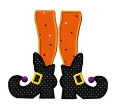 Witch Boots Applique - 3 Sizes! | Halloween | Machine Embroidery Designs | SWAKembroidery.com