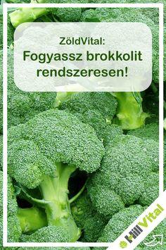 A brokkoli ugyanúgy mint a többi káposztaféle sok c- és k- vitamint tartalmaz. Már 10 dkg brokkoli fedezi a napi szükségletet mindkét vitaminból. A brokkolinak antibiotikus hatásai vannak. A rafanin a brokkoliban található anyag ami az antibiotikus hatását adja. A rafanin tartalma miatt még a pajzsmirigy problémákra is rendkívül hatásos. A brokkoli segíthet még a stressz legyőzésében is. A vér koleszterinszintjének csökkentésében is segít. Gyulladáscsökkentő hatással is rendelkezik a… Broccoli, Medical, Vegetables, Food, Medicine, Essen, Vegetable Recipes, Meals, Med School