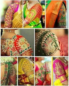 Handmade Embroidery Designs for Sarees . 59 Fresh Handmade Embroidery Designs for Sarees . Pattu Saree Blouse Designs, Bridal Blouse Designs, Blouse Neck Designs, Sleeve Designs, Blouse Patterns, Handmade Embroidery Designs, Latest Maggam Work Blouses, Sari Bluse, Maggam Work Designs