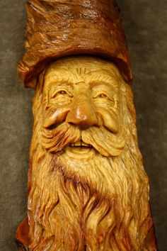 One of a Kind Wood Spirit Wood Carving Gift by TreeWizWoodCarvings, $105.00