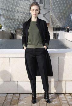 Le premier rang du défilé Louis Vuitton