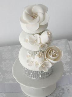 White Stacked Cupcake