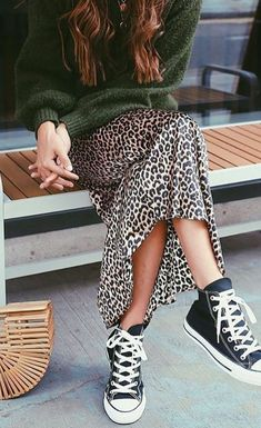 #animal #print #skirt #allstar #sweater #outfit #ootd #girls #woman #sweater #coat #comfy #classy #power #beige #inspiration #style