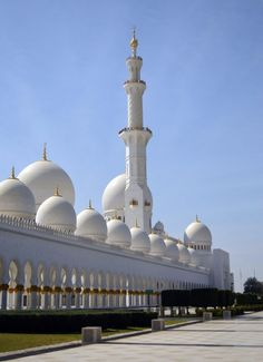 Grand Mosque Sheikh Al Zayed, Abu Dhabi, United Arab Emirates -…