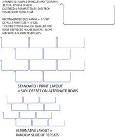 Simple Shingles P2P Pantograph by Jessica Schick JSPANTO321