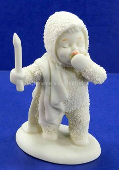I'm So Sleepy - Snowbabies Yawning Holding Candle Department 56 - Porcelain Figurine - 68810 13555 by QueeniesCollectibles on Etsy