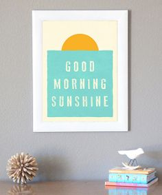 Uplift and inspire with this cheerful print. Made with eco-friendly inks on beautiful recycled cardstock, this lighthearted piece will transform the décor of any room while also creating an energetic and positive atmosphere.