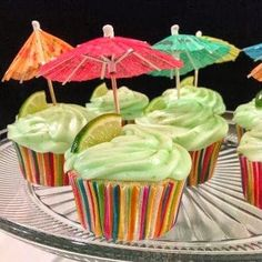 Margarita Cupcake with Key Lime Icing Perfect and on the list for our gypsy dinner party outside late summer 2014!!